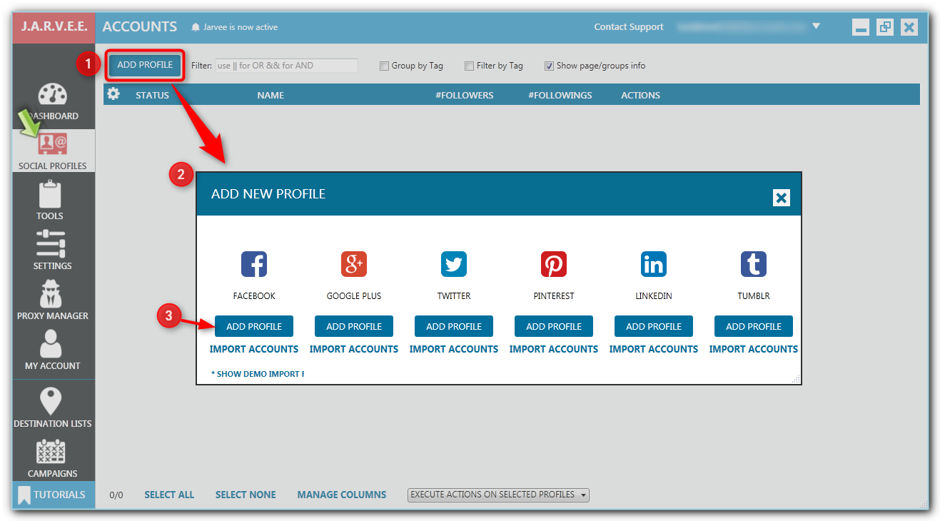 JARVEE-Adding-a-new-social-profile-Setting