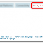 Error / Backup