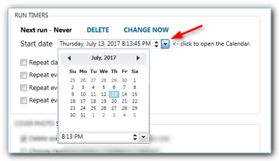 setting the date when to change your cover photo