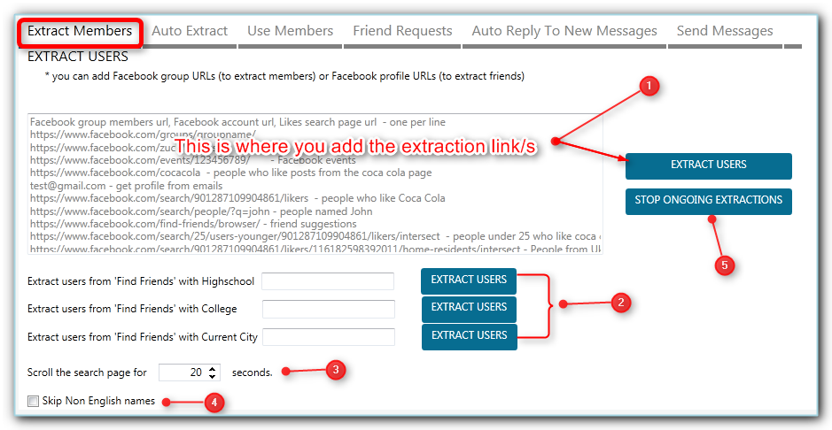 How to use the Facebook contact tool in JARVEE to auto