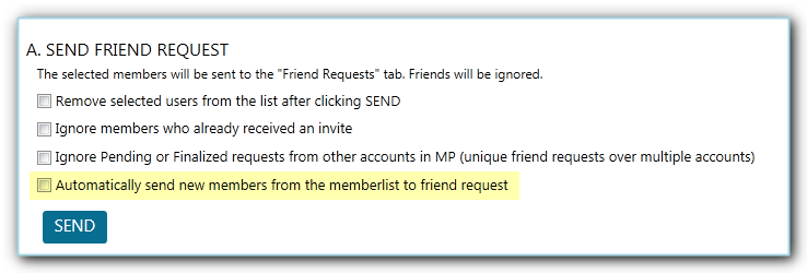 send facebook friend request options