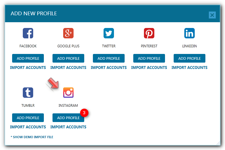 How to add your instagram account in jarvee jarvee select instagram and click the add profile button right below it ccuart Choice Image