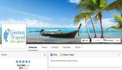 example-facebook-travel-page
