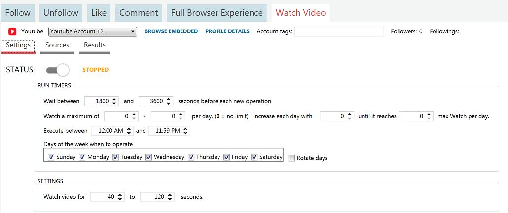 using the youtube watch video tool in jarvee