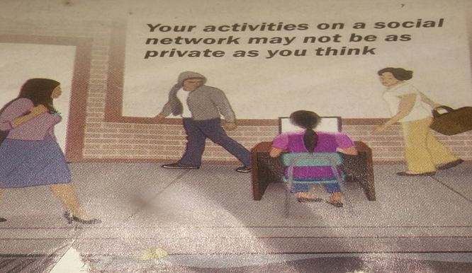your social media activity is not private
