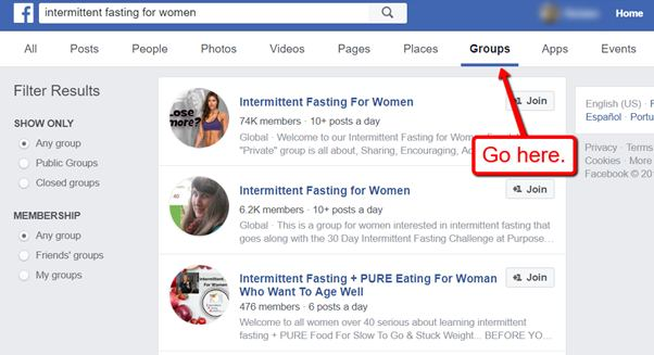 how to find niche relevant groups on facebook