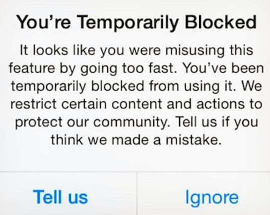 Instagram Follow Block - This action is blocked - Tips