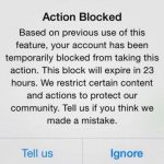 What to do about the latest Instagram action blocks
