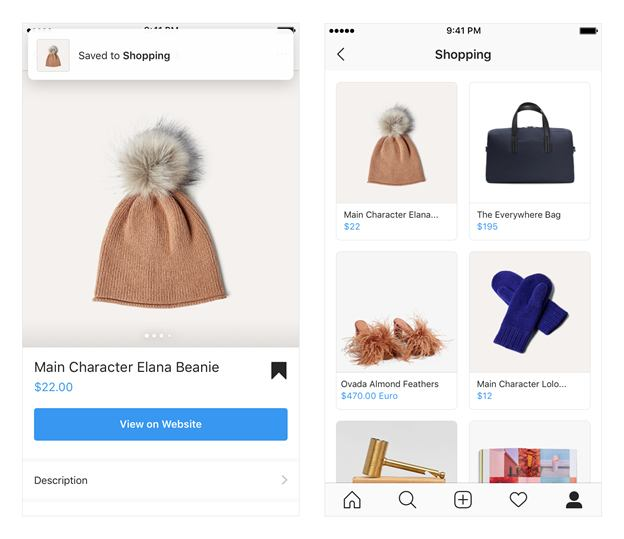 Instagram Shopping Features