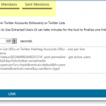 Twitter Mention Tool