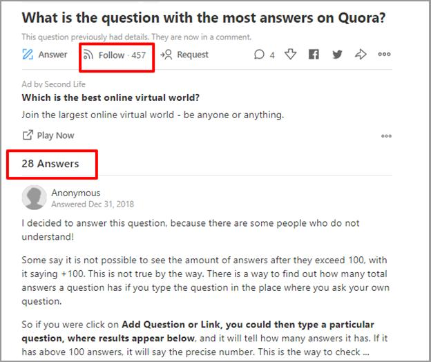 quora number of followers for a question