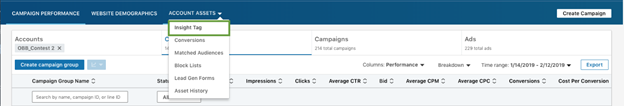 Add the Insight Tag on your website