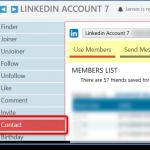 The Linkedin Contact Tool